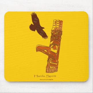 First Nations Haida Eagle & Totem Pole Mousepad