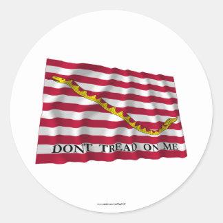 First Navy Jack Classic Round Sticker
