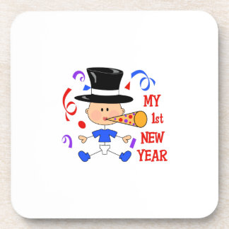 FIRST NEW YEAR BEVERAGE COASTERS