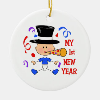 FIRST NEW YEAR CHRISTMAS ORNAMENTS