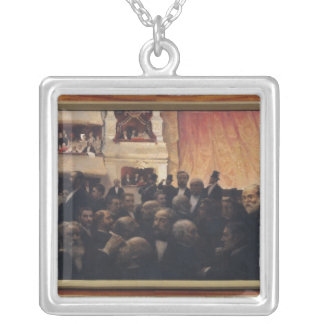 First Night at the Comedie Francaise in 1885 Silver Plated Necklace