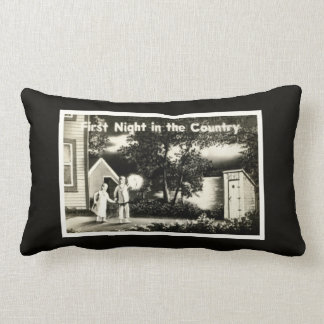 First Night in the Country Outhouse Spooks Throw Pillow