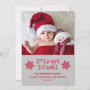 Babys First Christmas Cards Zazzle