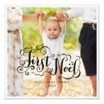 FIRST NOEL | MODERN CHIC HOLIDAY PHOTO CARD CUSTOM INVITE