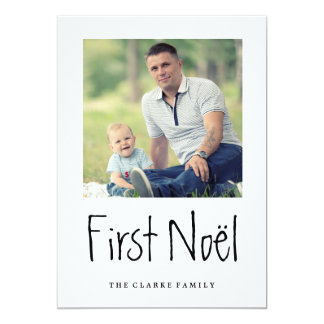 FIRST NOEL | MODERN CHIC HOLIDAY PHOTO CARD CUSTOM INVITE