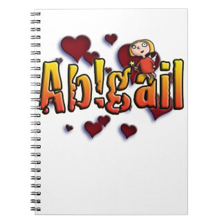 first nombre Abigail shirts and products Note Book