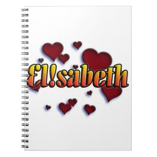 first nombre Elisabeth shirts and products Spiral Notebooks