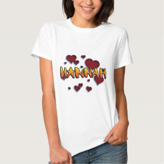 first nombre Hannah for playeras and other product