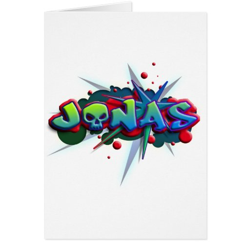 first nombre Jonas for playeras and other products Tarjeta
