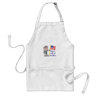 FIRST ON THE MOON APRON