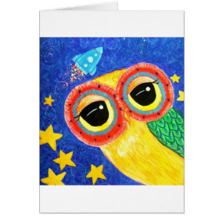 First Owl In Space Card