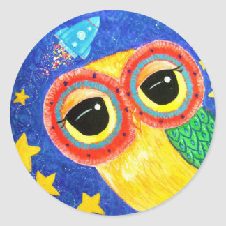 First Owl In Space Sticker