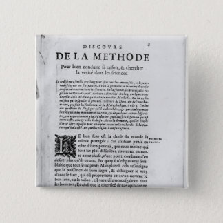 First page of 'Discours de la Methode' by Rene Button
