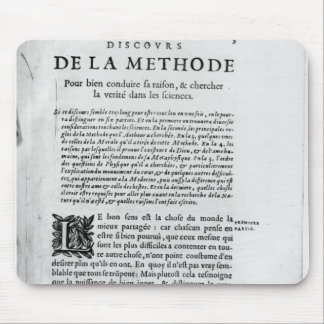 First page of 'Discours de la Methode' by Rene Mouse Pad