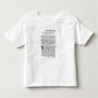 First page of 'Discours de la Methode' by Rene T Shirt