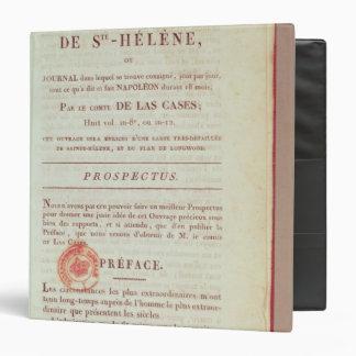 First page of 'Memorial de Sainte-Helene' Binder