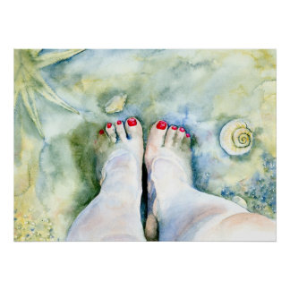 First Pedicure Canvas Print