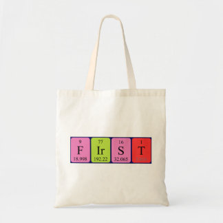 First periodic table name tote bag