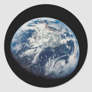 First photograph of the Earth taken by the Man Classic Round Sticker