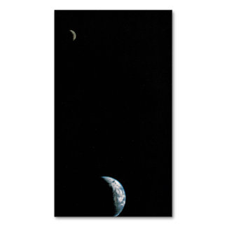 First Picture of the Earth and Moon in a Single Fr Magnetic Business Card