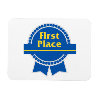First Place Blue & Gold Ribbon Magnet