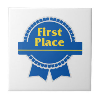 First Place Blue & Gold Ribbon Tile