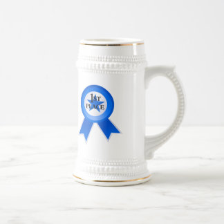 First Place Blue Ribbon Beer Stein
