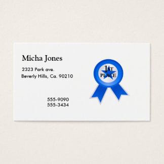 First Place Blue Ribbon Business Card