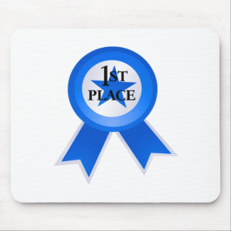First Place Blue Ribbon Mouse Pad