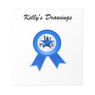 First Place Blue Ribbon Notepad
