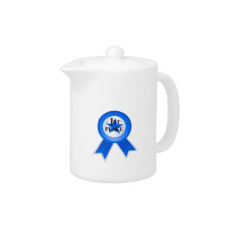 First Place Blue Ribbon Teapot