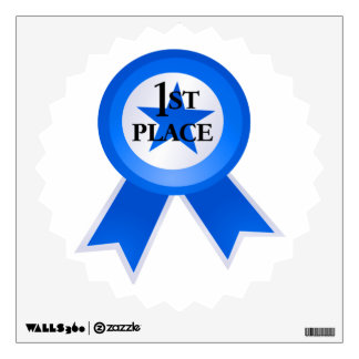 First Place Blue Ribbon Wall Sticker
