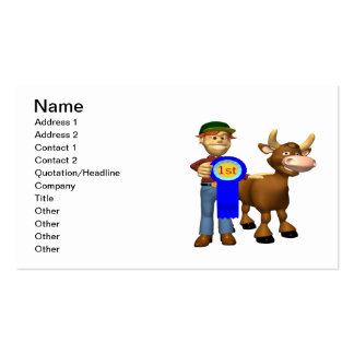 First Place Cattle Prize Double-Sided Standard Business Cards (Pack Of 100)