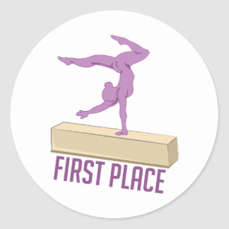 First Place Classic Round Sticker