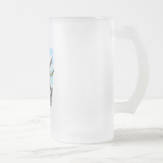 First Place Frosted Glass Beer Mug
