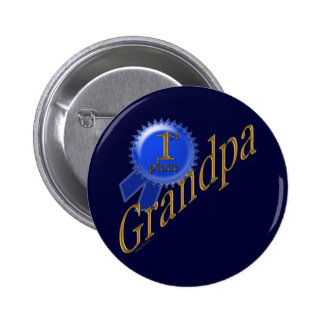 First Place Grandpa 2 Inch Round Button