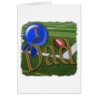 First Place - Number 1 Football Dad Card