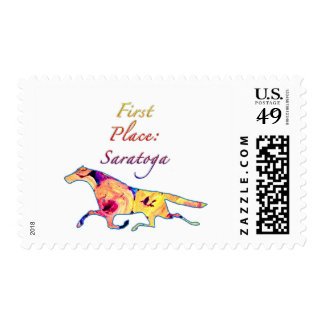 First Place Saratoga Stamp