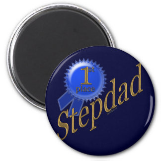 First Place Stepdad 2 Inch Round Magnet