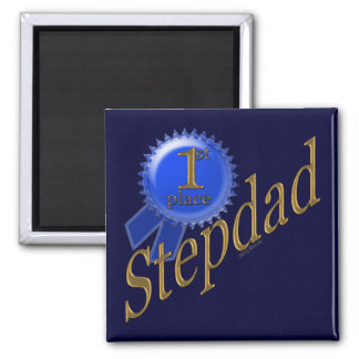 First Place Stepdad 2 Inch Square Magnet