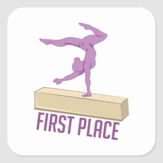 First Place Square Sticker