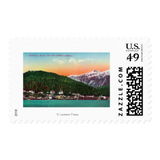 First Port of Entry in Alaska View Postage