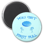 First Pull Frisbee Refrigerator Magnet