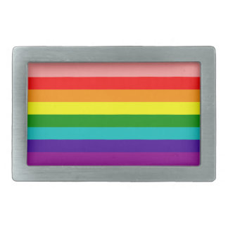 First Rainbow Gay Pride Flag Belt Buckle