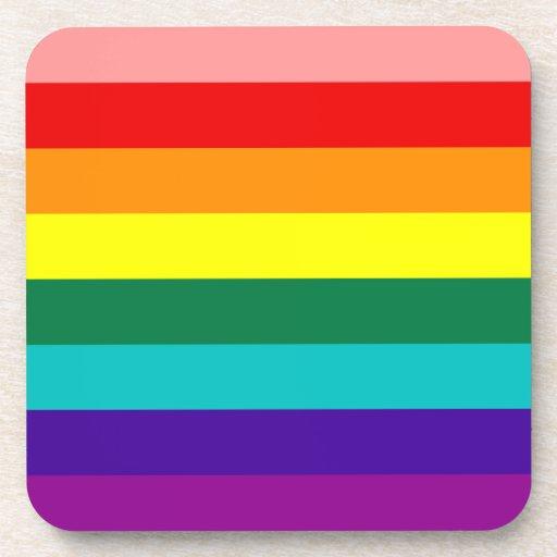 First Rainbow Gay Pride Flag Cork Coaster