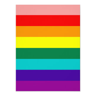 First Rainbow Gay Pride Flag Invitation