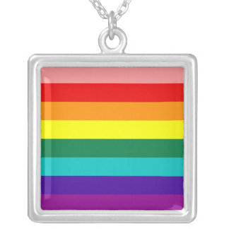 First Rainbow Gay Pride Flag Necklace