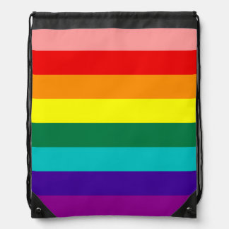 First Rainbow Pride Flag Drawstring Backpack