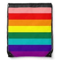 First Rainbow Pride Flag Drawstring Bag