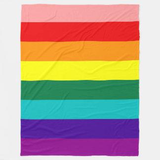 First Rainbow Pride Flag Fleece Blanket